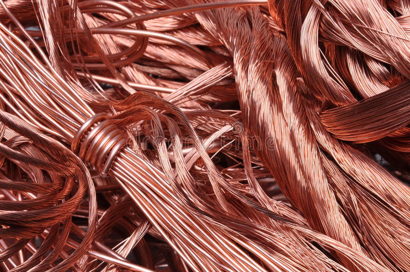 Scrap copper wire stock photo. Image of electric, power - 50973706