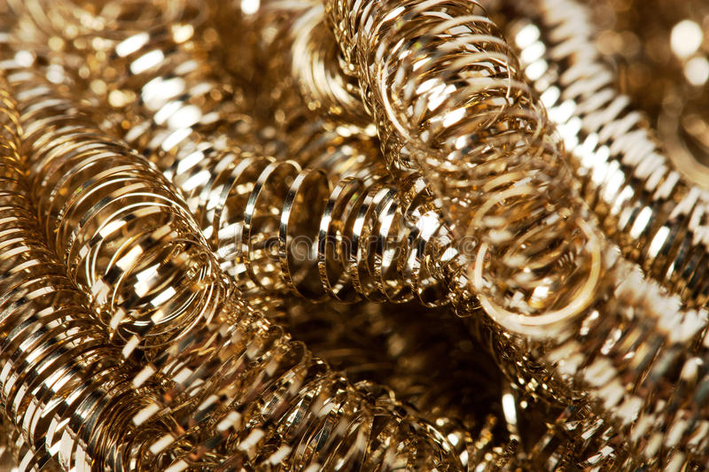 Scrap gold Shavings stock photo