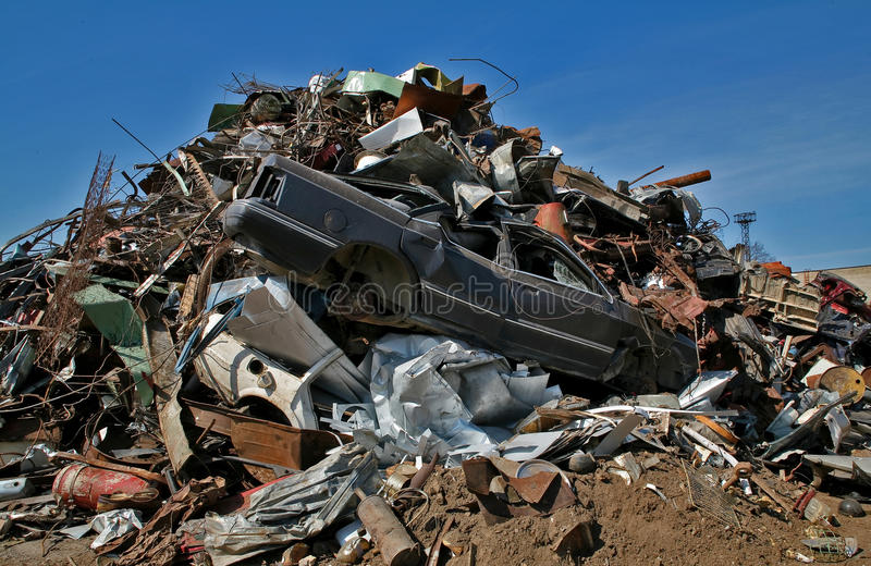 Scrap and junk pile royalty free stock photography