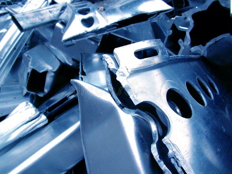 Scrap Metal 1. Close up shot of scrap metal taken at a scrap aluminium scrap yard royalty free stock images