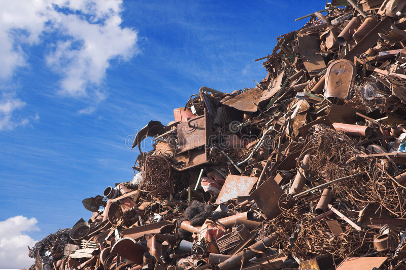 Scrap metal. Heap of scrap metal ready to be recycled royalty free stock photography