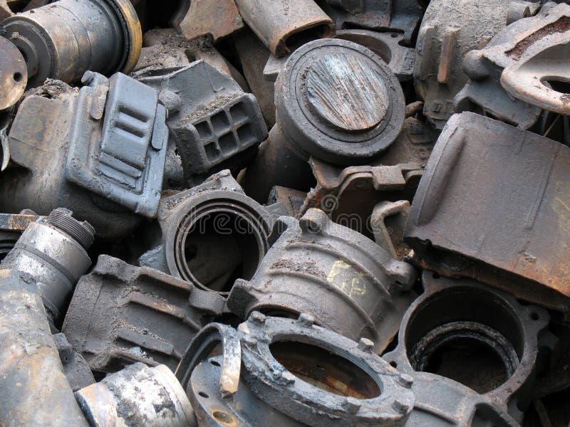 Scrap metal. Dump of scrap metal in territory of a factory stock photography