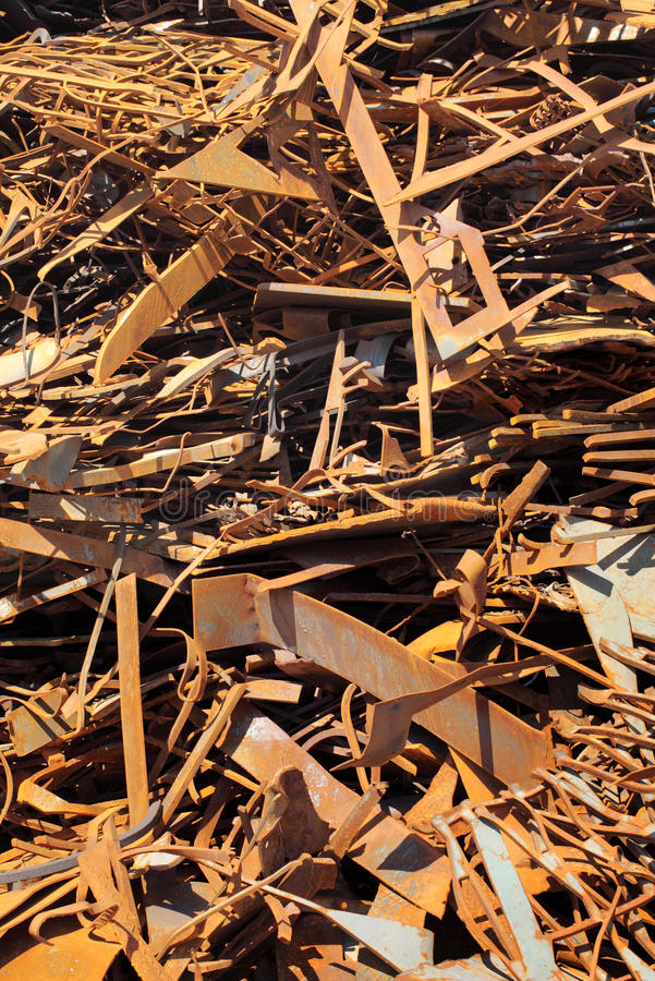 Scrap metal. Pile of scrap metal background stock photos