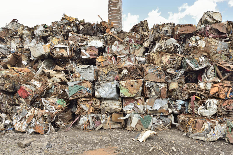 Scrap metal. Pile ready to recycled royalty free stock images