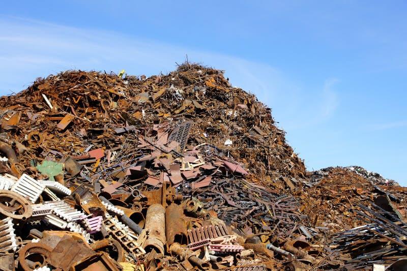 Scrap metal. Greater mountain of old rusty scrap metal stock images