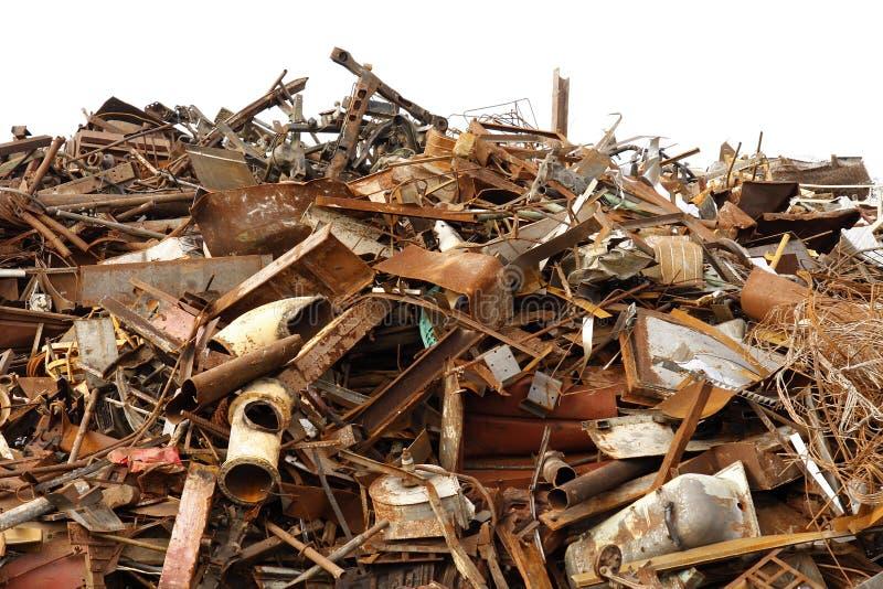 Scrap metal. Image of scrap metal, isolated stock photography