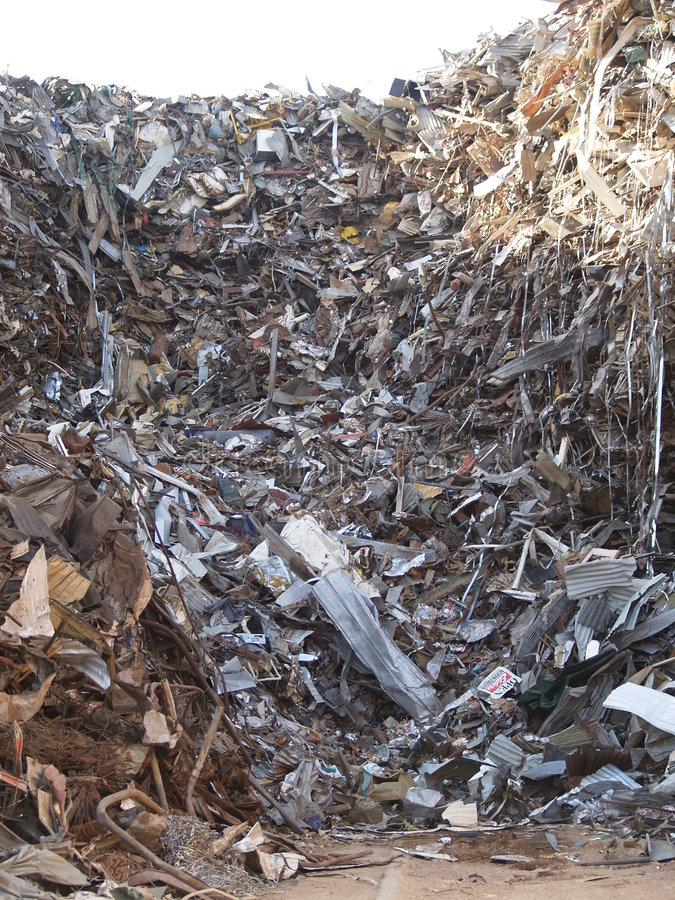 Scrap metal. A scrap metal pile somewhere in an industrial block near Port Adelaide, South Australia royalty free stock image