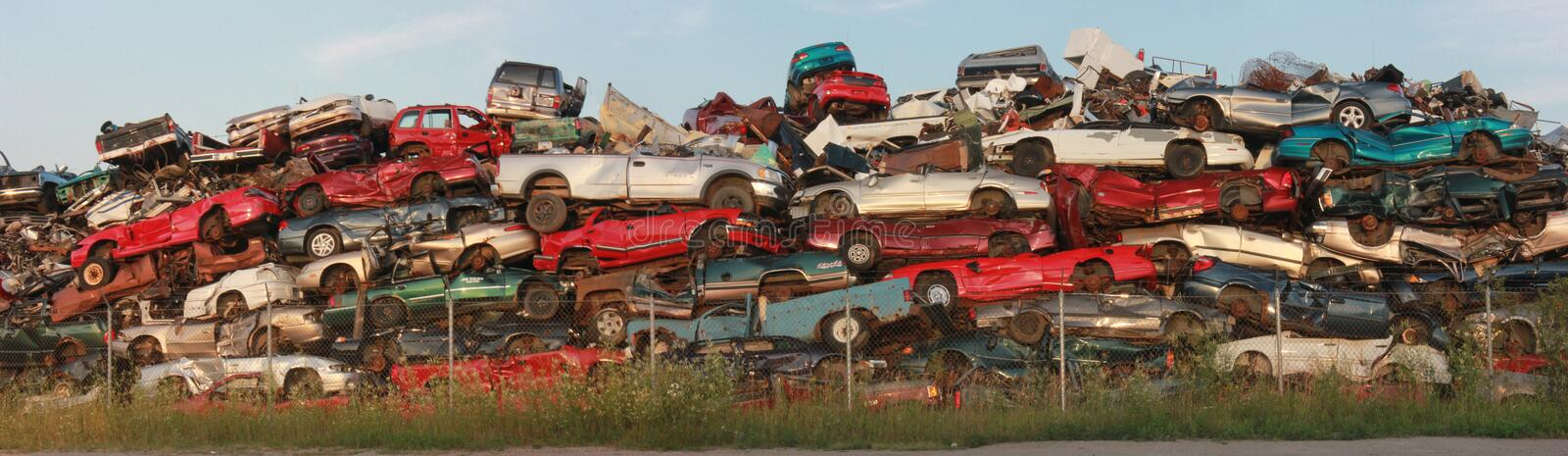 Scrap Metal Automobiles royalty free stock photos