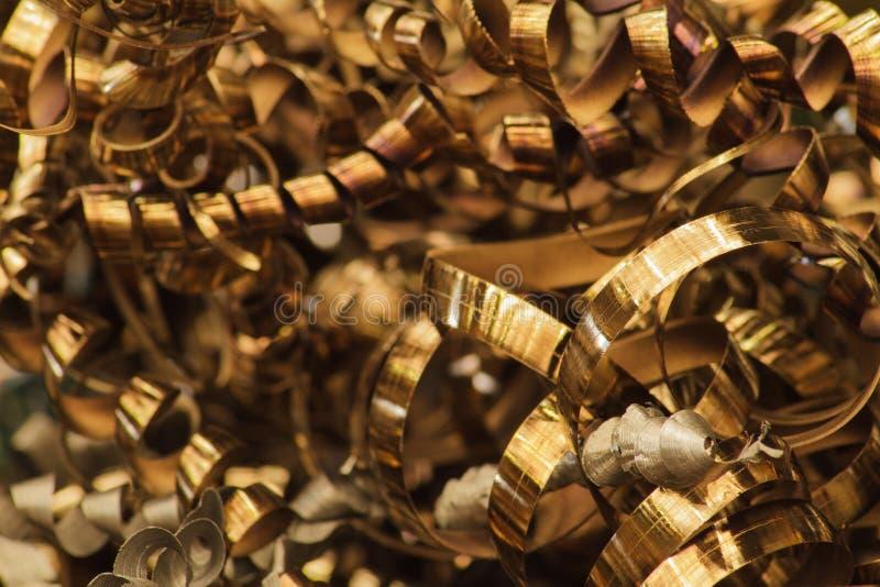 Scrap Metal of CNC Machine. In Factory royalty free stock image