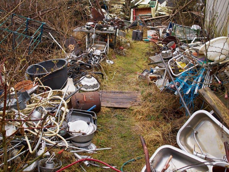 Scrap metal junk garbage royalty free stock photo