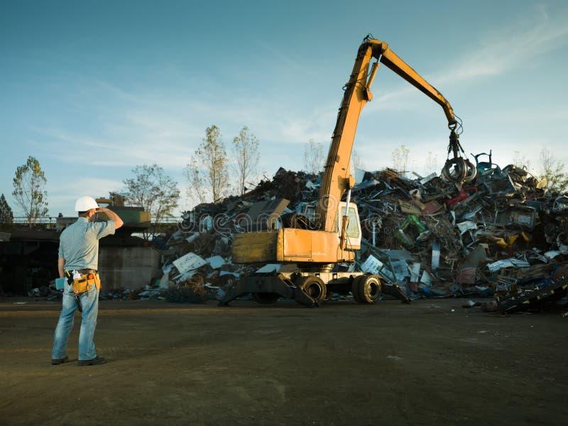 Scrap metal landfill stock image