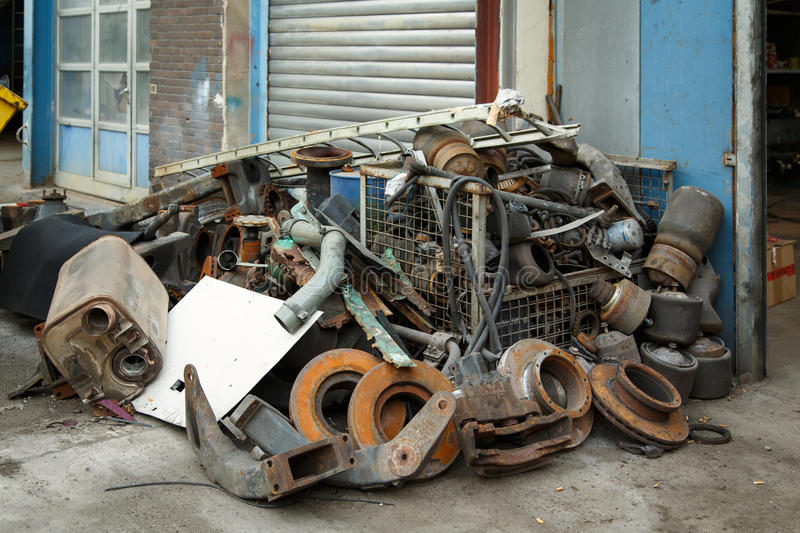 Download Scrap metal, old car parts stock image. Image of discarded - 33290399