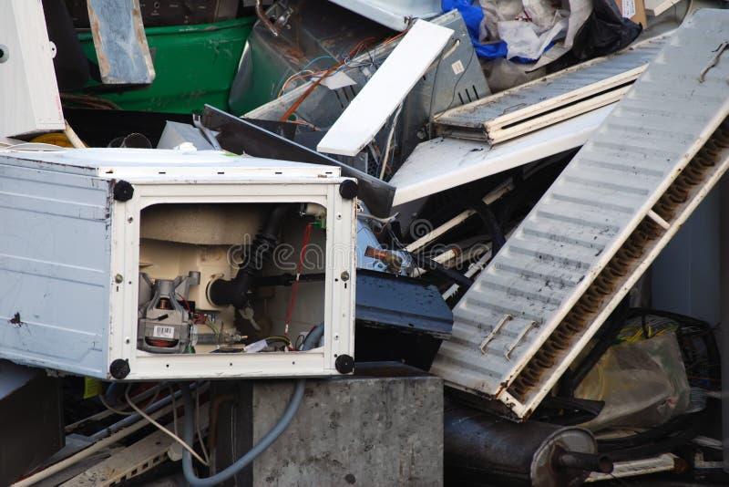 Scrap metal pile stock images