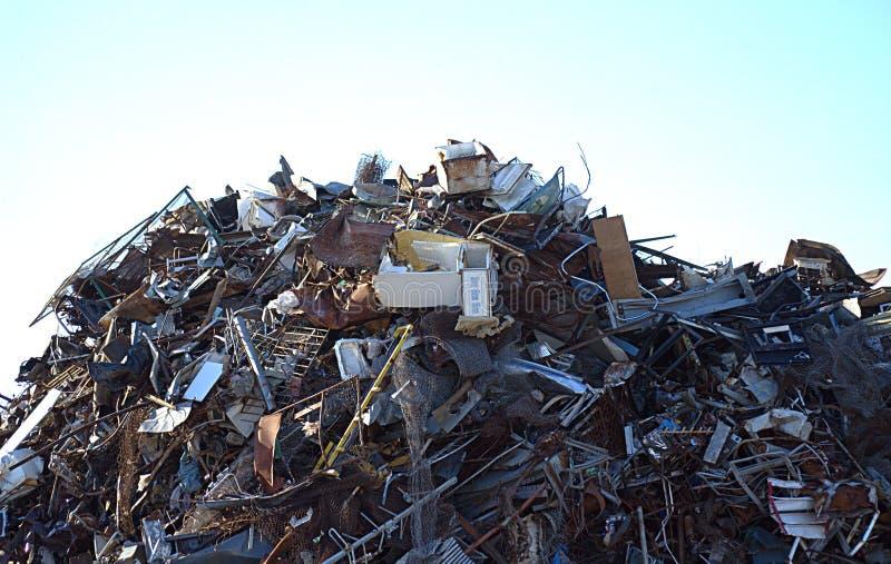 Scrap metal pile stock photos