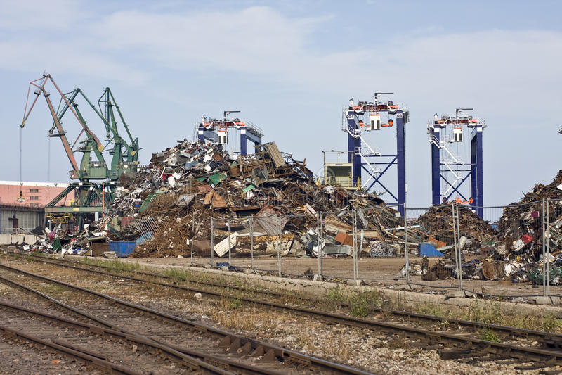 Scrap Metal Pile royalty free stock photography