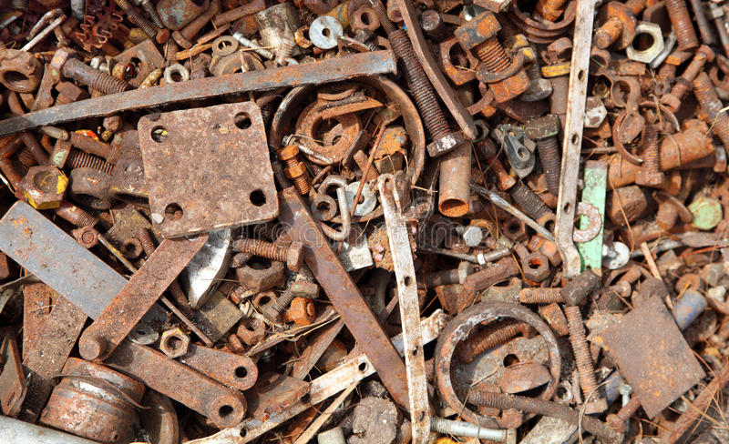 Scrap Metal. For recycling stock photo