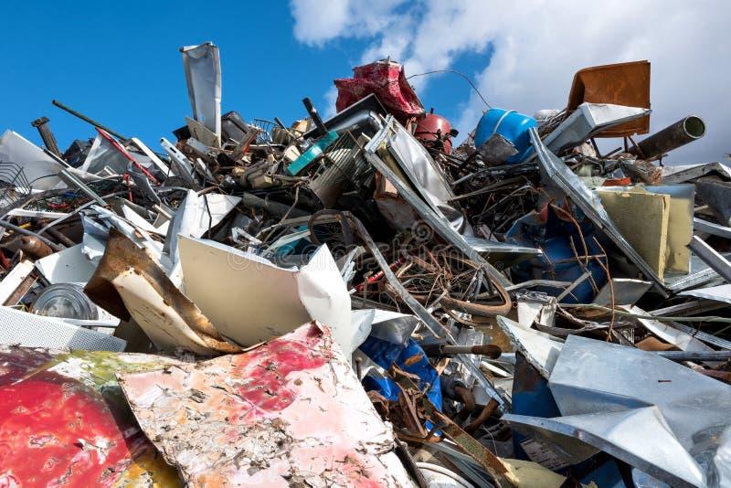 Scrap metal. At recycling yard stock photo