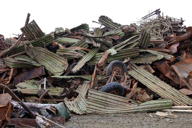 Scrap metal waste. Pile of scrap metal waste royalty free stock photography