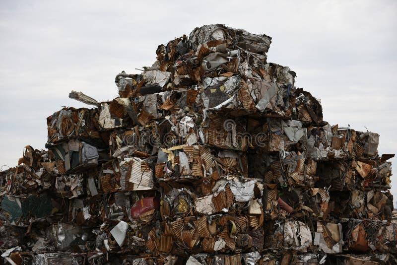 Scrap metal recycling royalty free stock photos