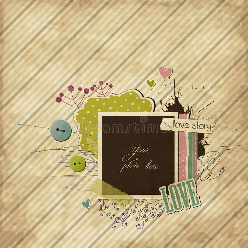 Download Scrap Template With Elements Royalty Free Stock Image - Image: 21331686