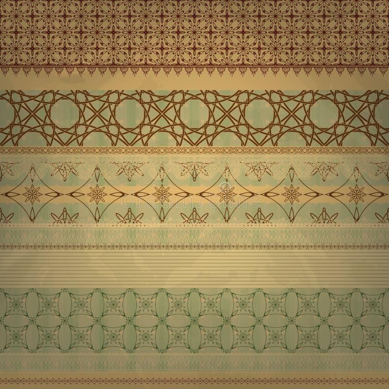 scrap template, vintage seamless patterns royalty free illustration