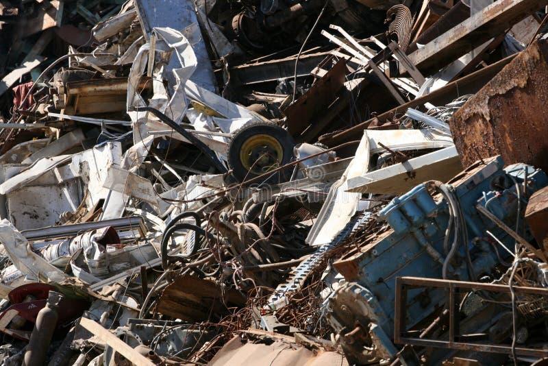 Scrap yard stock photography