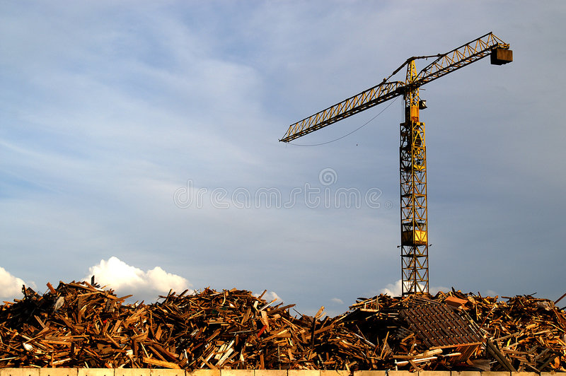 Scrap Yard Crane stock image