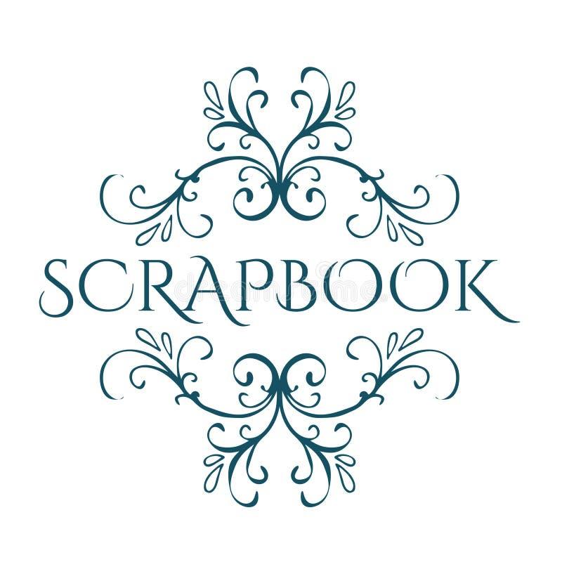 scrapbook Καλλιγραφικό εκλεκτής ποιότητας στοιχείο σχεδίου ελεύθερη απεικόνιση δικαιώματος