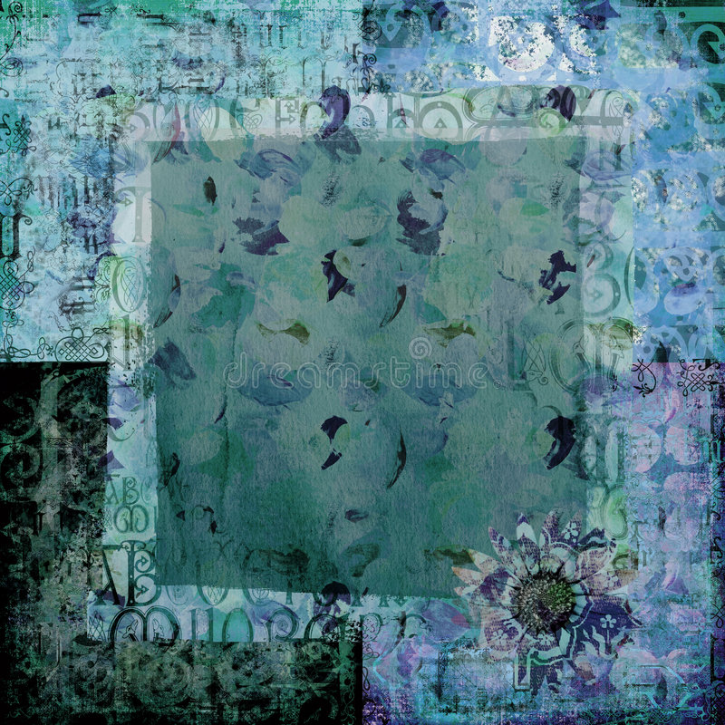 scrapbook бумаги предпосылки искусства стоковое изображение rf