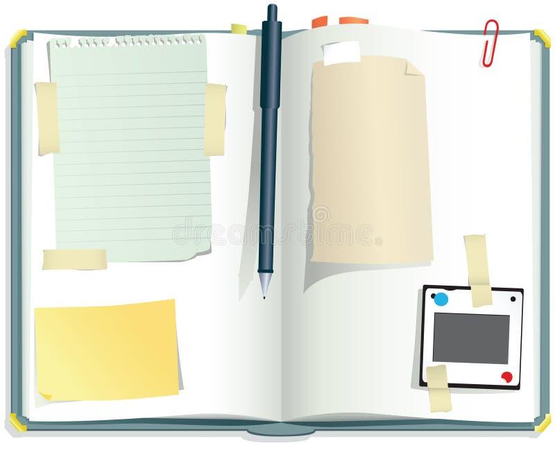Scrapbook настольного компьютера бесплатная иллюстрация