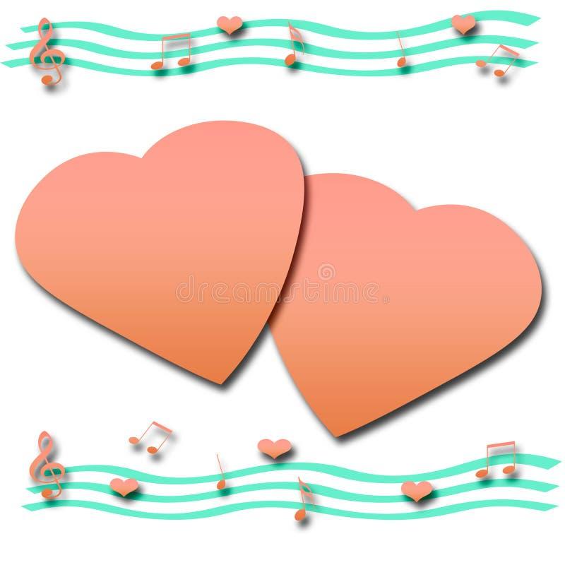 scrapbook нот любовника иллюстрация штока