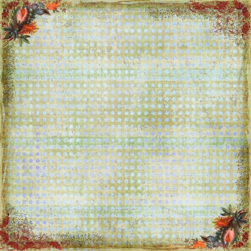 scrapbook предпосылки искусства флористический стоковое фото rf