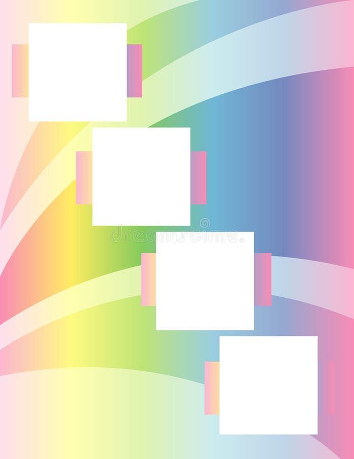 scrapbook радуги свода стоковая фотография