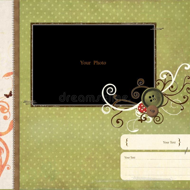 scrapbook рамки иллюстрация вектора