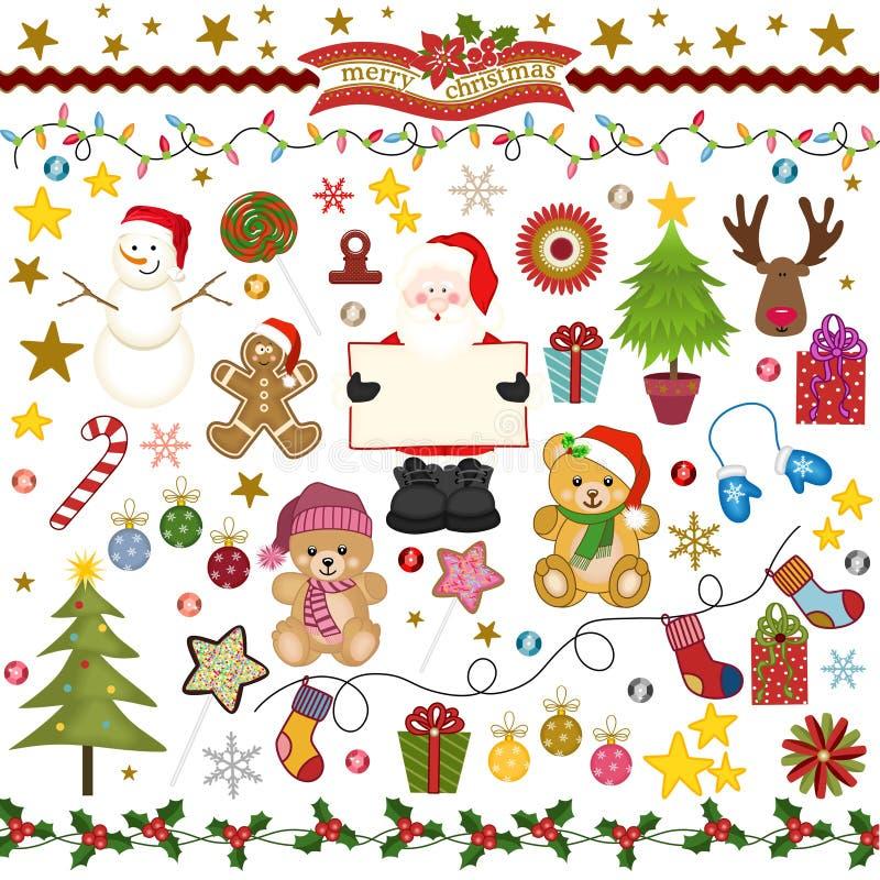 Scrapbook цифров рождества иллюстрация вектора