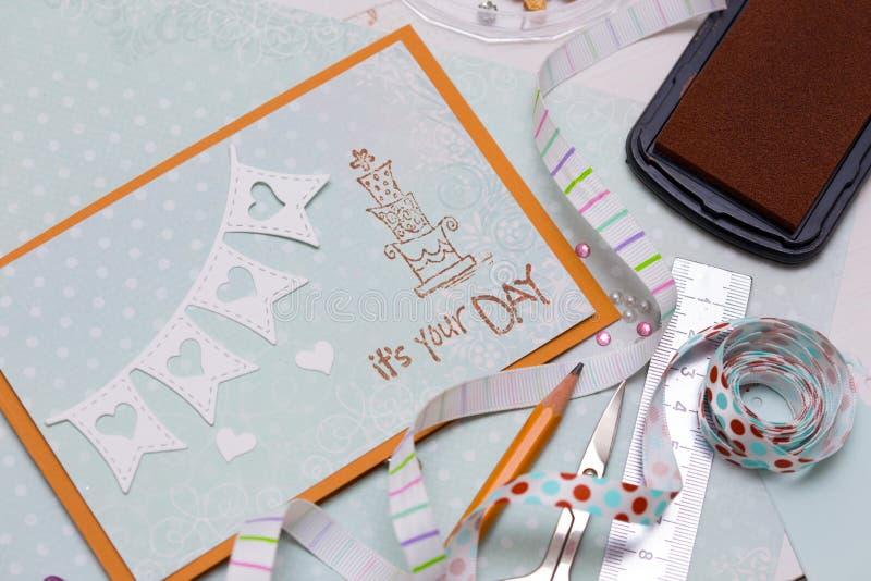 scrapbook royaltyfria bilder