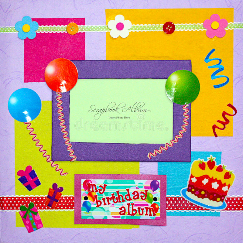 Scrapbook album cover royalty free stock photography