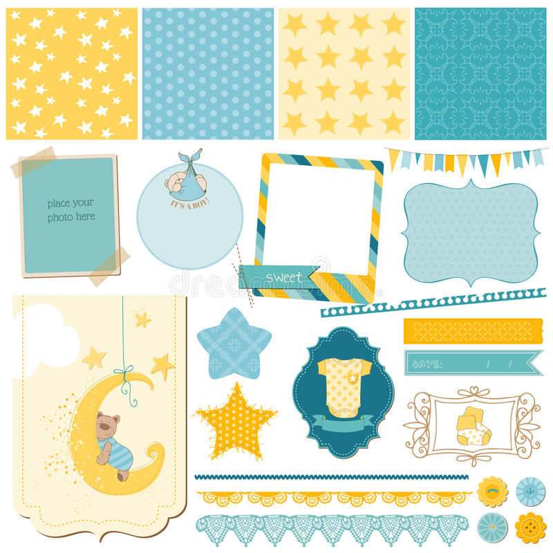 Download Scrapbook Baby Bear Set stock photo. Image of celebration - 36204814
