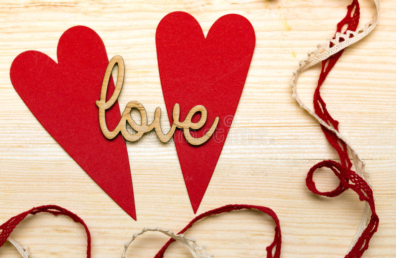 Scrapbook. Background. Card and tools with decoration. valentine's day royalty free stock photography