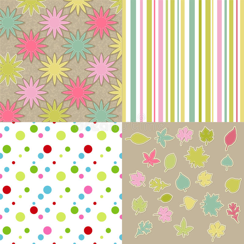Scrapbook backgrounds royalty free illustration