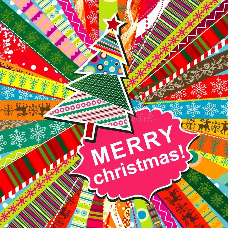 Scrapbook christmas patterns vector illustration