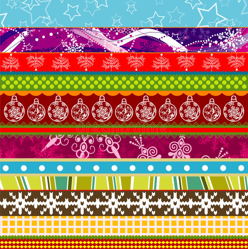 Download Scrapbook Christmas Patterns For Design Stock Vector - Illustration of holiday, embroidery: 22013749