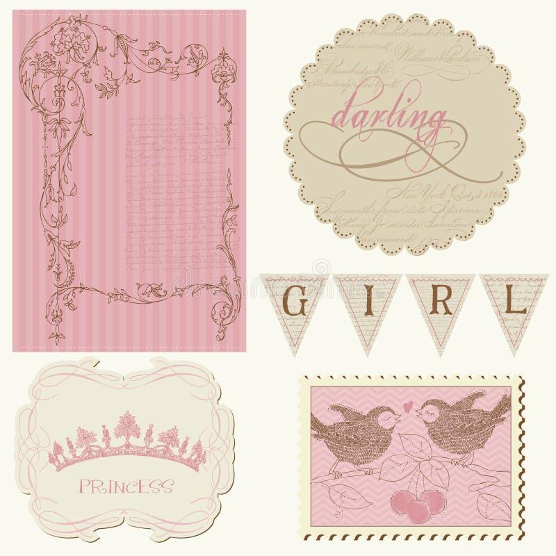 Scrapbook design elements - Beautiful Girl. Scrapbook design elements Beautiful Girl vector illustration