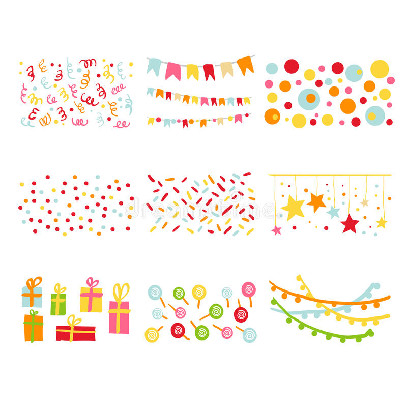 Scrapbook Design Elements Birthday Party Set vector illustration
