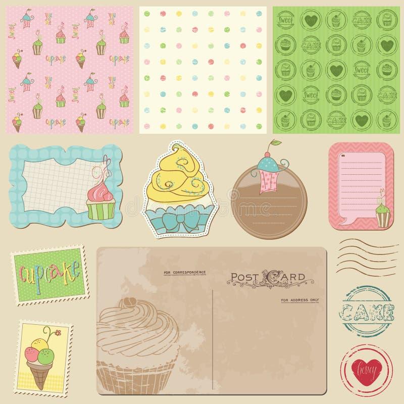 Download Scrapbook Design Elements - Sweet Desserts Stock Vector - Image: 22204984