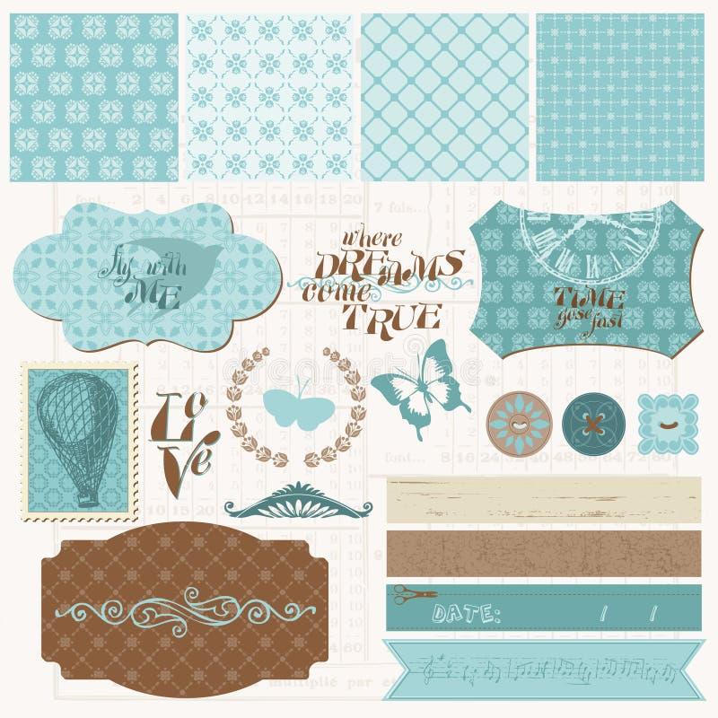 Download Scrapbook Design Elements - Vintage Love Set Stock Vector - Image: 22230397