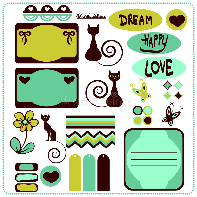 Download Scrapbook elements stock vector. Image of grass, beautiful - 24031945