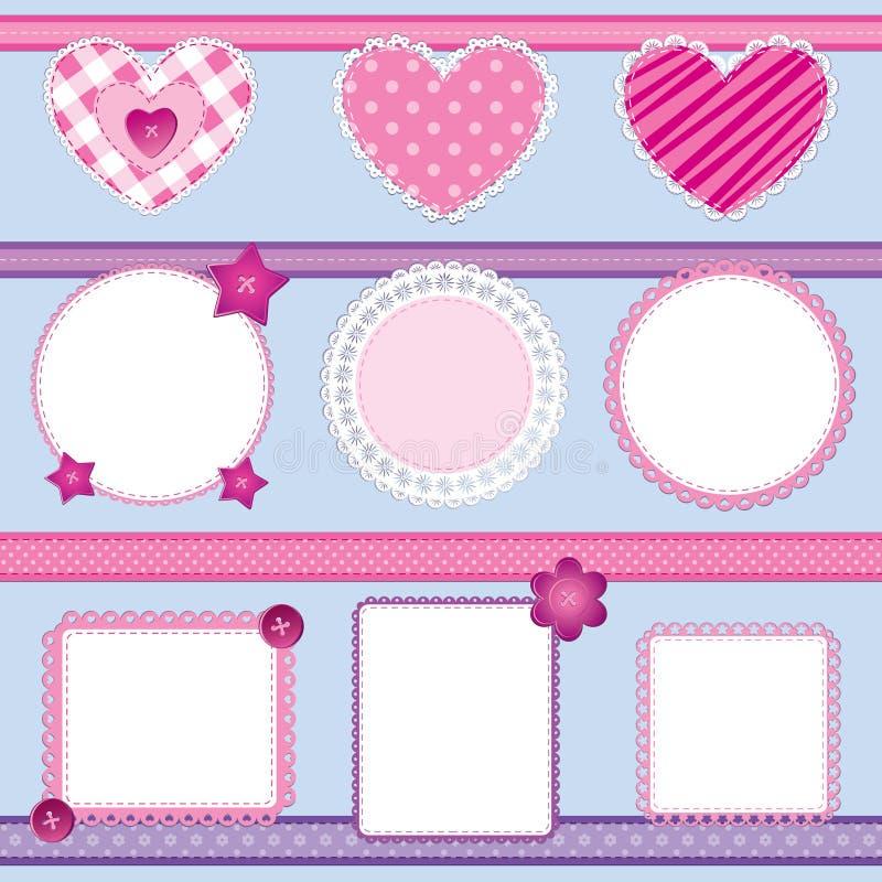 Download Scrapbook Elements Pink - Set 2 Stock Vector - Illustration: 21766986