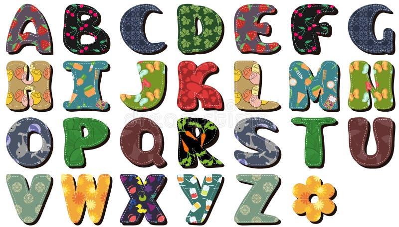 Scrapbook lace alphabet letters royalty free illustration