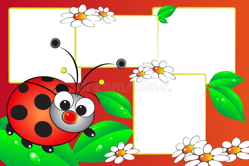 scrapbook ladybug бесплатная иллюстрация